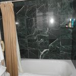 Granite tiled shower