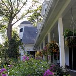 The front porch of Stone Throw Cottage