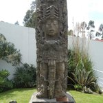 Aztec (?) relic, gift from Honduras, displayed on the grounds