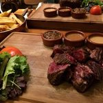 Rare Onglet and 3 sauces