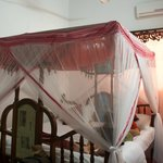 Pyramid hotel bed