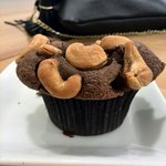 Gluten free chocolate cashew cupcake