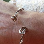 Crucian knot copper & silver cuff