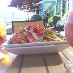 Seafood Nachos! Yum!