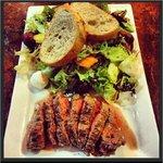 Insalata de Casa with marinated flat iron steak