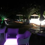 chill out area by night