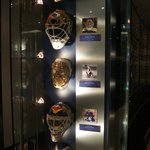 1 of the many displays of goalie masks