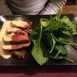 Duck breast with potato gratin and spinach