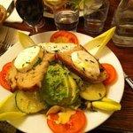Salade crudités et fromages