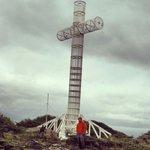 Cruz de los Mares en Cabo Froward,  fin del continente americano.  Cross of the seas, Cabo Frowa