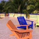 """Lounge area on top of Sunrise Suite @ """"Coconut Row"""""""
