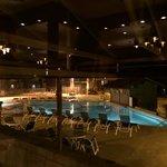 Pool with swim up bar