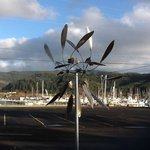 Pretty windmill sculptures