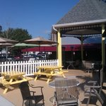 Great patio to listen to the BEST music in town!!