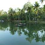 The boating in the backwaters