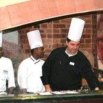 Armando De Filippo capo cuoco  con il suo staff
