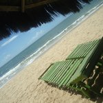 Espreguiçadeiras beira mar no Jamaica