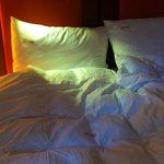 dun duver and pillows