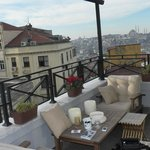 The terrace and view to the Golden Horn