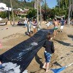 Kids slippery slide.