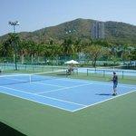 Tennis area.