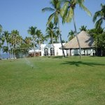 Soccer field and massage hut.