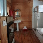 Bathroom in the Three Sisters cabin