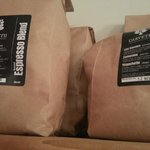 Locally roasted coffee beans, freshly ground to order