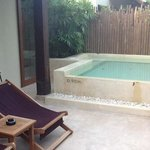 plunge pool/jacuzzi on terrace