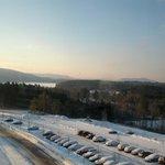 View of Stockbridge lake (behind parking lot)