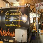 Gyro Truck next to Hyatt -