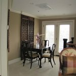 Game/dining table in Smoot Suite