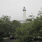 The Saint Simons Lighthouse from our balcony of the Smoot Suite