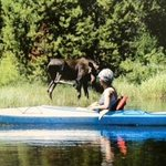 Canoeing in the North Fork of Payette Lake.