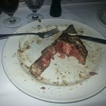 What remains of the steak