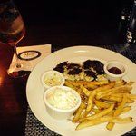 Moscato sangria and crab cake entree