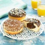 Donuts sin agujero de crema o chocolate que son irresistibles...