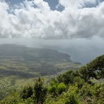 View from top of Gros Piton down the island