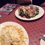 alfredo and calamari salad