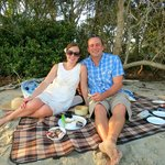 Romantic fully catered private picnics on a secluded Noosa Sound beach