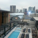 View of Bridgestone arena from room