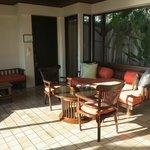 room in beach front villa