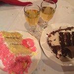 cake in the restaurant, :)