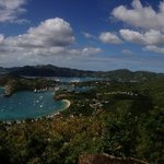 View from Shirley Heights of Nelson's Dockyard