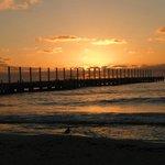 Sunrise sitting on the beach
