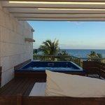 View from top floor of Bella 4 (note the ocean)