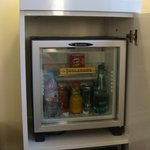 mini bar and safe..