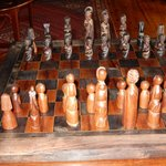 African Style Chess Set in the Suite