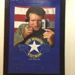 Original art in cafe, of old US movie poster.
