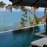 view from our suite with plunge pool